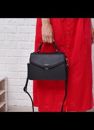 Стильная сумка-чемодан от david jones 5819-2 черная