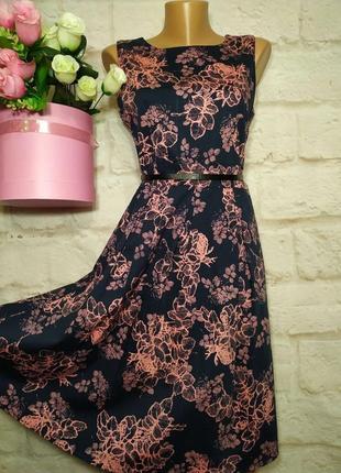 Платье миди коттоновое р 12 apricot