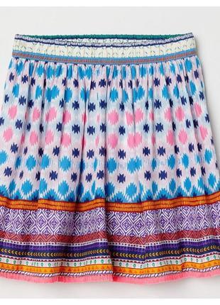 Новая юбка с узором для девочки, h&m, 0663485