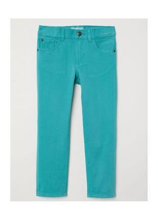 Новые твиловие бирюзовые штаны regular fit для мальчика, h&m, 0571982