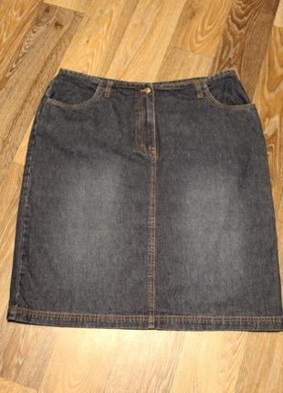 Джинсовая юбка  joie de vivre в идеальном состоянии 3xl