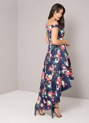 Ликвидация товара ❗️роскошное платье в цветочный принт chi chi london8 фото