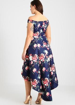 Ликвидация товара ❗️роскошное платье в цветочный принт chi chi london4 фото