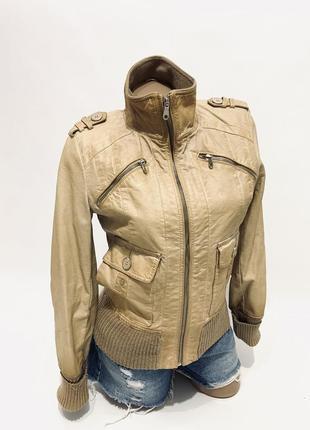 Куртка косуха эко кожа бомбер amisu