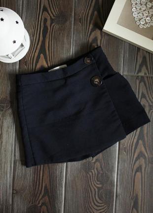 Классические шорты юбка с декоративными пуговицами