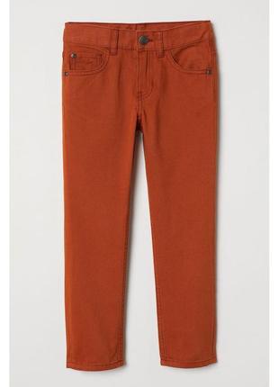 Новые стрейчевые коричневые брюки для мальчика, h&m, 0626703