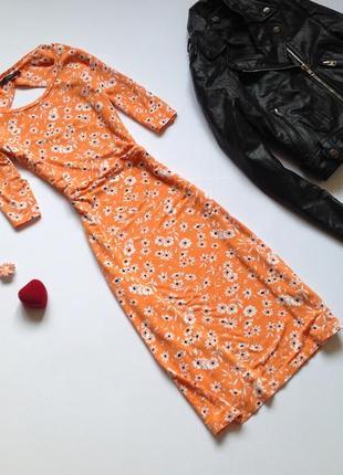 Платье миди с цветочным принтом next