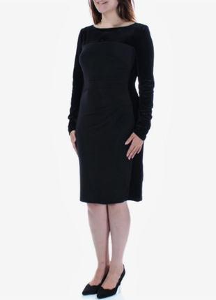 """Платье-футляр , скомбинированное с бархатом по всему контуру фигуры, размер """"4"""" usa"""