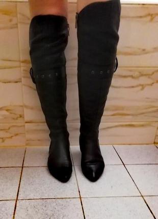 Сапоги(ботфорты) кожа