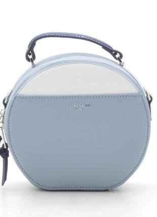 Новый голубой круглый женский клатч