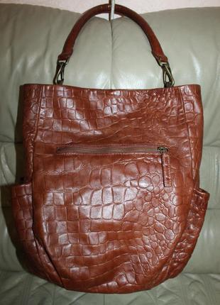 Фирменная большая сумка из натуральной кожи liebeskind берлин