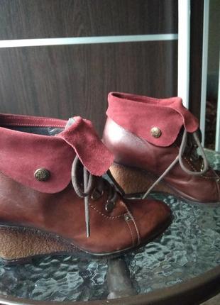 Хорошие ботинки, кожа натуральная,замш