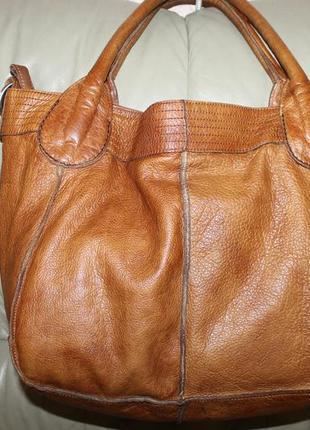 Фирменная сумка-шоппер из натуральной кожи liebeskind   берлин
