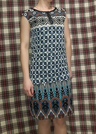 Оригинальное легкое платье с подкладкой
