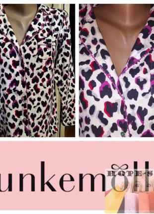 💞байковая рубашка для сна  с длинным рукавом леопард