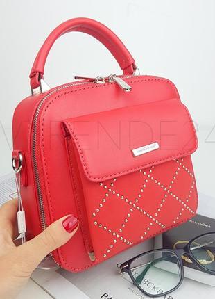 #5190 red  david jones шикарная стильная сумка кроссбоди!