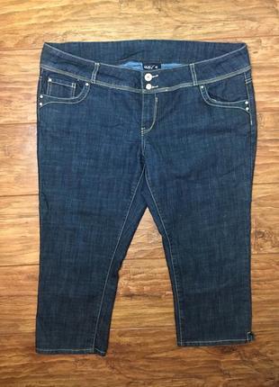 Бриджи джинс, тянутся, большой размер
