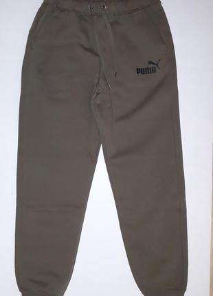 Утепленные штаны puma logo sweat pants slim  оригинал распродажа