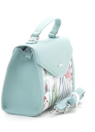 Женская сумка через плечо с цветочный принтом от david jones g-9126-1 зеленая6