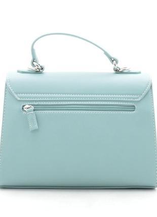 Женская сумка через плечо с цветочный принтом от david jones g-9126-1 зеленая7