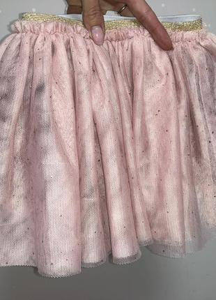 Шикарная пышная юбка из мягкого фатина с блеском