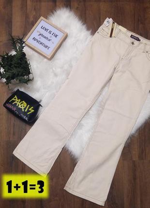 Denimco штаны брюки m бежевые вельветовые классика палаццо кюлоты клеш прямые широкие