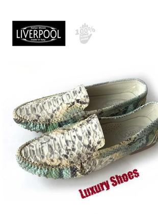 Liverpool italian shoes handmade 40-41 шкіра нові
