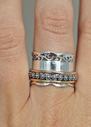 Серебряное кольцо плаза р.16,5-17