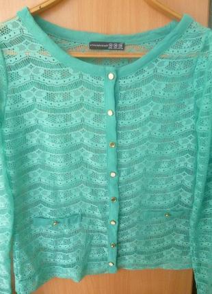 Кружевная летняя кофточка блуза