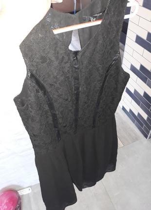 Шикарное платье сарафан гипюр от top secret
