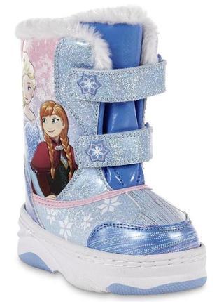 Зимние сноубутсы disney frozen для девочек. размер 30. оригинал. сша.