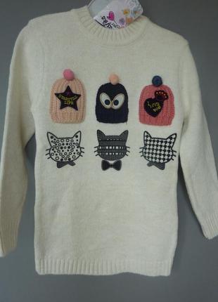 Хит-сезона, свитер для девочки, модный, турция, от 4  до 9лет