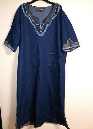 Платье оверсайз восточном стиле
