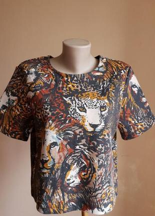 Стильный свитшот принт львы h&m швеция