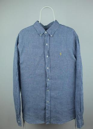 Шикарная оригинальная рубашка ralph lauren 100% лён