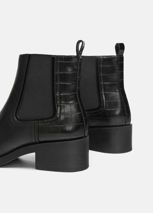 Классические базовые ботинки -челси натуральная кожа zara2