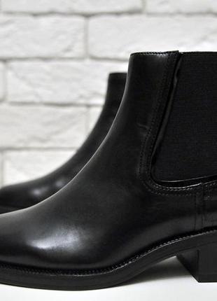 Классические базовые ботинки -челси натуральная кожа zara5