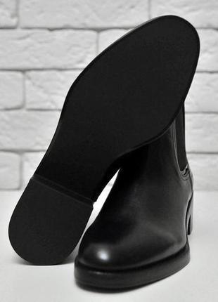 Классические базовые ботинки -челси натуральная кожа zara7