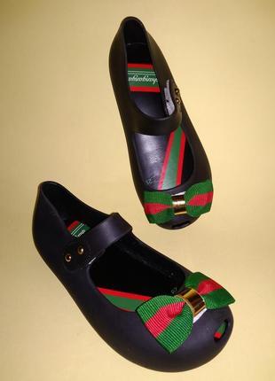 Туфли балетки пвх стиль мэри джейн чёрные