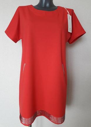 Новинка сезона!красивое,эффектное,модное,просторное платье-трапеция ambitionfly