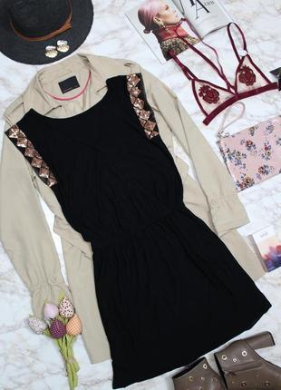 Обнова! платье черное а-силуэт декор пайетки