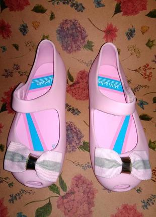 Туфли балетки в стиле мэри джейн пвх розовые