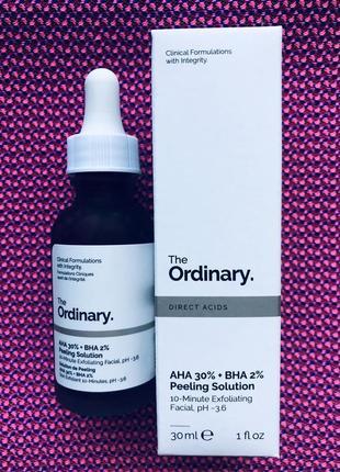 The ordinary кислотный пилинг маска aha 30% + bha 2% peeling solution