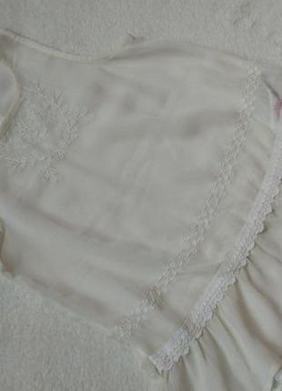 Новая нарядная блузка блузон туника f&f на 6-7 лет