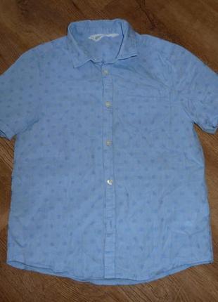 H&m легкая котоновая рубашка на 7-8 лет