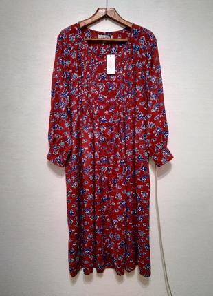 Стильное платье - рубашка миди большого размера