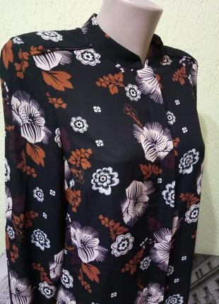 Шикарная блуза от autograph с цветочным принтом,  стильная рубашка