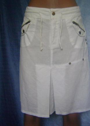 Модная молодежная юбка от atmosphere ,лен,8 размер