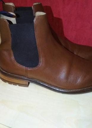 Кожаные шикарные ботинки