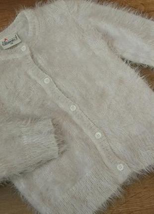 Big sale! новая кофта меховушка травка zebralino на 5-6 лет рост 116 см